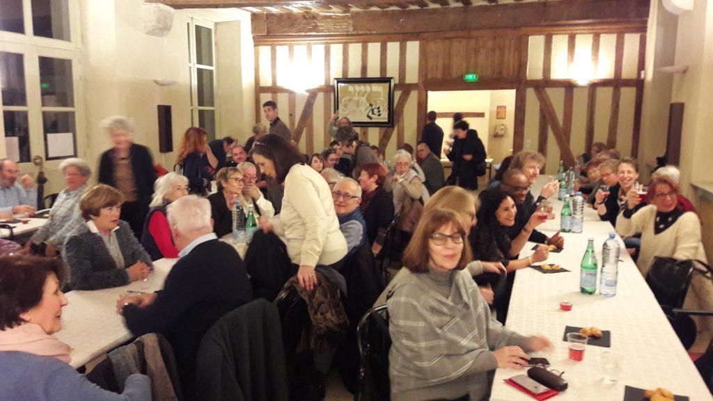 """photo évènement : dîner-débat """"l'humour juif"""" avec Gérard Rabinovitch et Philippe Mallard"""