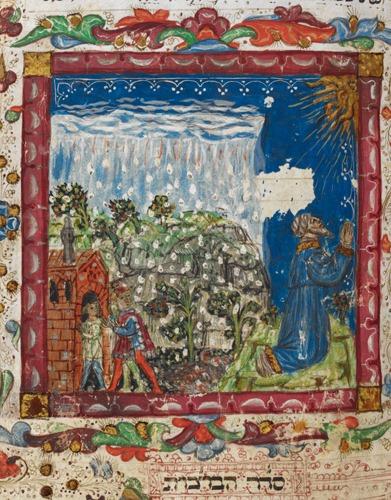 Ms harley 5686 : Mazhor, Italie du Nord, 1466 représentaiton d'un homme en prière
